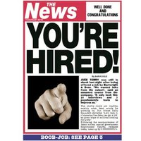 Newspaper Headline You're Hired Personalised New Job Card, Giant Size By Moonpig