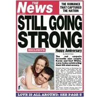 Still Going Strong Newspaper Headline Personalised Photo Upload Anniversary Card, Standard Size By M