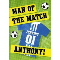 Personalised Football Birthday Card, Giant Size By Moonpig