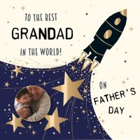 To The Best Grandad In World Happy Father's Day Photo Card, Square Card Size By Moonpig