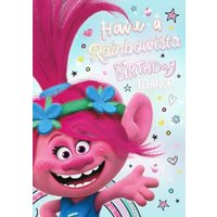 Rainbowista Birthday Card - Trolls Card, Standard Size By Moonpig