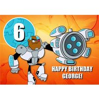 Teen Titans Go Birthday Card , Large Size By Moonpig
