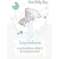 Tatty Teddy Congratulations New Baby Boy Card, Standard Size By Moonpig