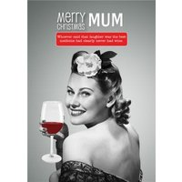 Twisty Merry Christmas Mum Personalised Card, Standard Size By Moonpig