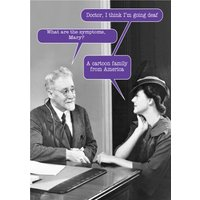 Doctor, I Think I'm Going Deaf Funny Personalised Card, Large Size By Moonpig