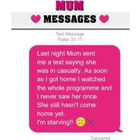Funny Mum Messages Happy Mother's Day Card, Standard Size By Moonpig