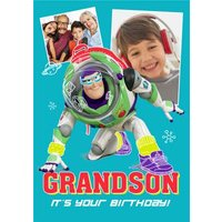 Toy Story Buzz Lightyear Grandson It's Your Birthday Photo Upload Card, Large Size By Moonpig