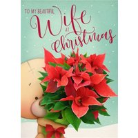 Uddle Christmas Card To My Beautiful Wife At Christmas, Large Size By Moonpig