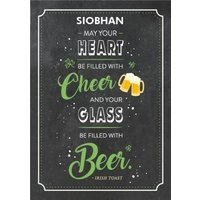 Cheer And Beer St Patricks Day Card, Large Size By Moonpig