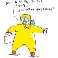 Funny Nipping To The Shops Covid19 Birthday Card , Standard Size By Moonpig