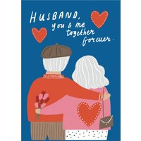 Husband You And Me Together Forever Cute Card, Giant Size By Moonpig