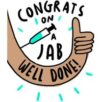 Congrats On A Jab Well Done Card, Giant Size By Moonpig