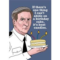 I Cant Abide Bent Candles Card, Standard Size By Moonpig