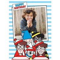 Wheres Wally Photo Upload Birthday Card, Standard Size By Moonpig