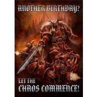Warhammer Another Birthday Let The Chaos Commence Card, Large Size By Moonpig