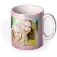Mother's Day Pink Stamp Photo Upload Mug by Moonpig, Gift Set - Delivery Available