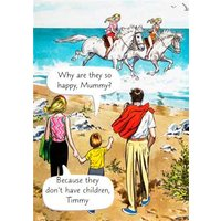 Funny Birthday Card - Mum Humour Being A Parent, Large Size By Moonpig