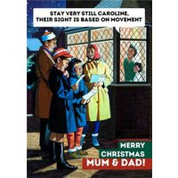 Carol Singers Funny Christmas Card, Large Size By Moonpig