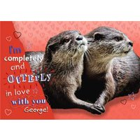 Otterly In Love With You Personalised Funny Pun Card, Giant Size By Moonpig