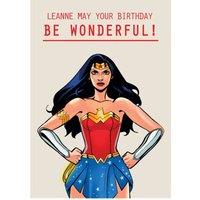 Wonder Woman Wonderful Birthday Card, Standard Size By Moonpig