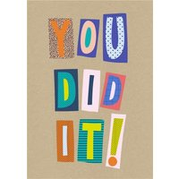 Word Up You Did It! Card