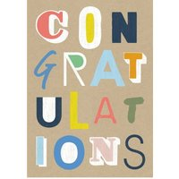 Wordy Congratulations Card, Large Size By Moonpig