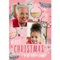 Merry Christmas To My Lovely Granny Photo Upload Card, Giant Size By Moonpig