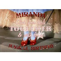 The Wizard Of Oz Red Glitter Heels Magical Birthday Card, Giant Size By Moonpig