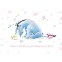 Disney Winnie The Pooh Birthday Surprises Card, Large Size By Moonpig