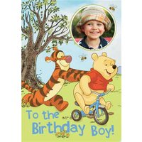 Disney Winnie The Pooh To Birthday Boy Photo Card, Standard Size By Moonpig