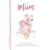 Birthday Card For Mum - Winnie The Pooh Piglet, Standard Size By Moonpig