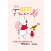 Disney Winnie The Pooh Best Friend Birthday Card, Large Size By Moonpig