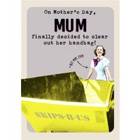 Retro Mum Decided To Clean Out Her Handbag Card, Giant Size By Moonpig