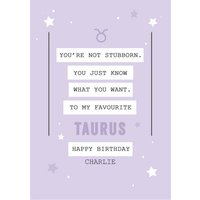 Funny Taurus Zodiac Birthday Card, Large Size By Moonpig