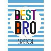 Best Bro Personalised Card, Standard Size By Moonpig