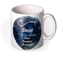Youre A Star Personalised Constellation Mug by Moonpig Scorpio Gift Set By - Delivery Available