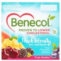 Benecol 4 low fat fruit medley yogurts