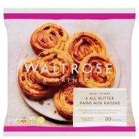 Waitrose Frozen 6 pains aux raisins