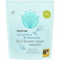 Waitrose Laundry Capsules Bio Lotus & Watermint