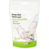 essential Waitrose vinyl gloves, pack of 20