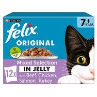 Felix Senior Mixed Selection in Jelly Beef, Turkey, Salmon