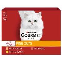 Gourmet Mon Petit Cat Food Mix Meat 12 x 50g