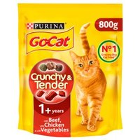 Go-Cat Crunchy & Tender with Beef & Chicken