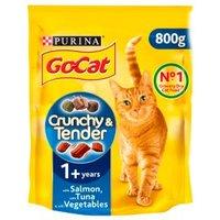 Go-Cat Crunchy & Tender with Salmon & Tuna