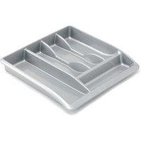 Addis Drawer Organiser High Gloss Surfaces Metallic Silver - 510855