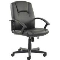 'Bella Executive Manager's Chair Black Leather - Ex000192