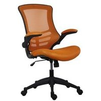 Marlos Mesh Back Office Chair With Folding Arms - Orange - CH0790OR