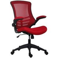 Marlos Mesh Back Office Chair With Folding Arms - Red - CH0790RD
