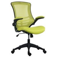 Marlos Mesh Back Office Chair With Folding Arms - Green - CH0790GN