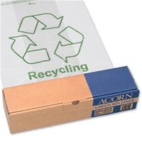 Acorn Green Bin Liners Capacity 60 Litres Clear [Pack 50] - 402573